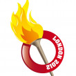 Olympic flame — Stock Vector