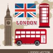 London elements - Stock Vector