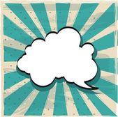 Düşünce bulutu — Stok Vektör