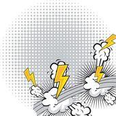 Explosão em quadrinhos — Vetorial Stock