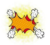 空白の漫画雲 — ストックベクタ