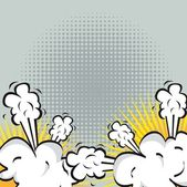 Explosión o lucha en comics — Vector de stock