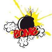Comic de bomba — Vector de stock