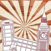 London elements — Stock Vector