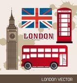 London elements — Cтоковый вектор