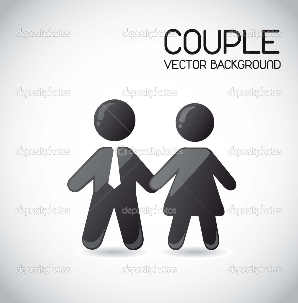 Couple icons over gray background. vector illustration — Stock Vector #11647084