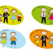Royalty-Free Stock Vector Image: Families drawing
