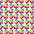 Rainbow pattern — Stock vektor
