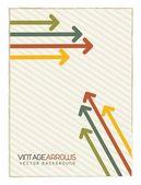 Vintage arrows — Stock Vector