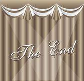 Movie ending screen — Stock Vector