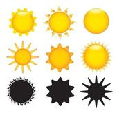 Sun various — Stock Vector
