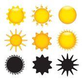 Sun various — Stock Vector