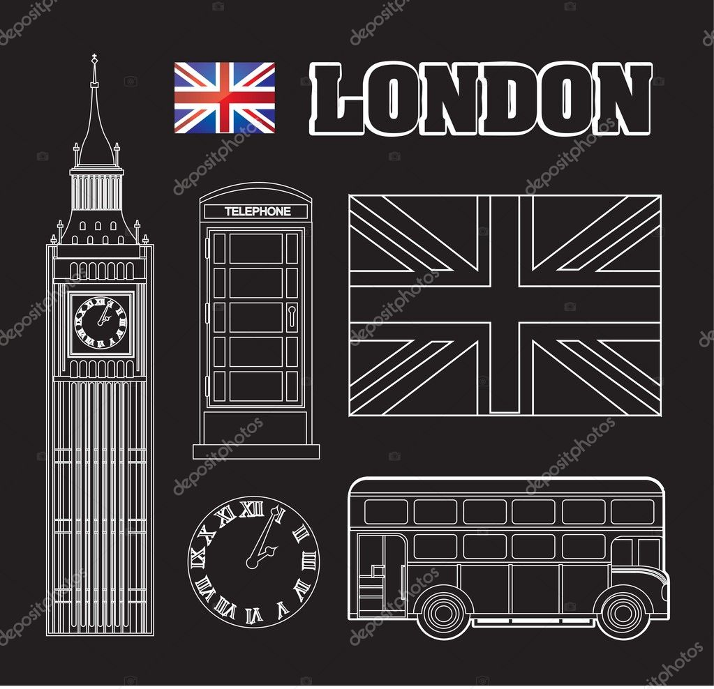 Different symbols representing London vector illustration  Stock Vector #11945648