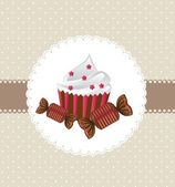 Cup cake — Wektor stockowy