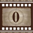 Vintage film strip — Stock Vector
