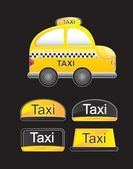 Taxi car — Vector de stock