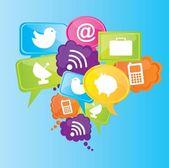İletişim — Stok Vektör