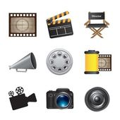 Icons movie — Stock Vector