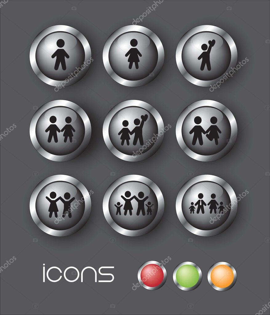 Icons of family over gray background vector illustration — Stock Vector #12126857