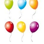 Постер, плакат: Six balloons
