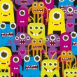 Colorful monsters - Stock Vector