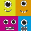 Monsters faces — Stock Vector