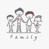 Family vector — Vector de stock