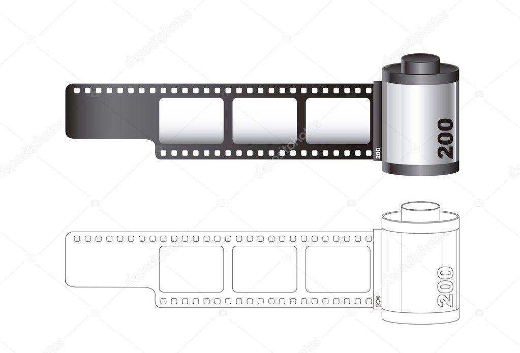 相机胶卷 — 图库矢量图像08