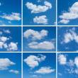 Set of cloudy skies — Stock Photo