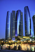 Abu Dhabi city by night — Stock Photo