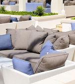 Sofa on the beach — Stock Photo