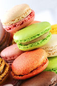 Tasted macaroons — Stock Photo
