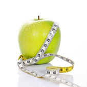 Fitness green apple — Stock Photo