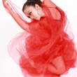 Woman in various dance costumes and fun poses. — Stock Photo #12188516
