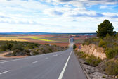 Empty rural road in Central Spain — Stock Photo