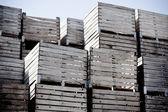 Crates stack — Stock Photo