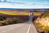 Empty country road in winter Spain — Stock Photo
