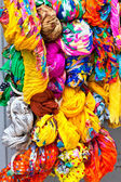 Many color scarves — Stock Photo