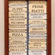 Stock Photo: Restaurant menu board