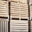 Stock Photo: Crates stack