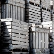 Crates stack — Stock Photo