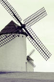 Old Spanish windmills, toned image — Stock Photo