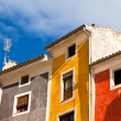 Old color houses facades - Photo