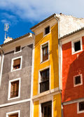 Old color houses facades — Stock Photo