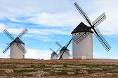 Old Spanish windmills — Stock Photo