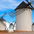 Old Spanish windmills - Stock Photo