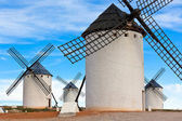 Old Spanish windmills — Stock Photo