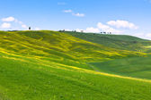 Tuscan Val d'Orcia background — Stock Photo