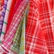 Mix color Shirt and Tie on Hangers , selling — Stock Photo #10965052