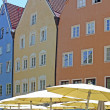 Beautiful colorful houses in Fussen, Bavaria, Germany — Stock Photo